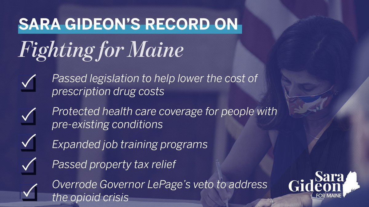 I'm so proud of the work we've done to bring people together and deliver real results for Mainers in all 16 counties. As senator, I will fight for every single Mainer to address the issues that matter most, just like I've done as Speaker. #mepolitics https://t.co/hyA14OuIyo