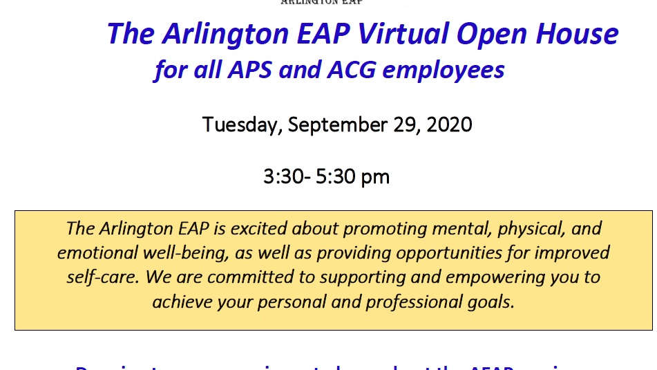 Join us tomorrow 11/29 from 3:30-5:30 pm for The AEAP Virtual Open House! Drop in at your convenience to learn about our services, meet staff, participate in a Mindfulness practice & enter a raffle to win a $50 Amazon gift card. For more info visit: <a target='_blank' href='https://t.co/o3KRkevv9t' rel=