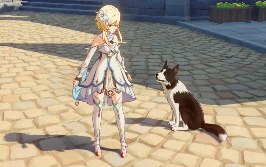 Can You Pet The Dog On Twitter You Cannot Pet The Dog In Genshin Impact