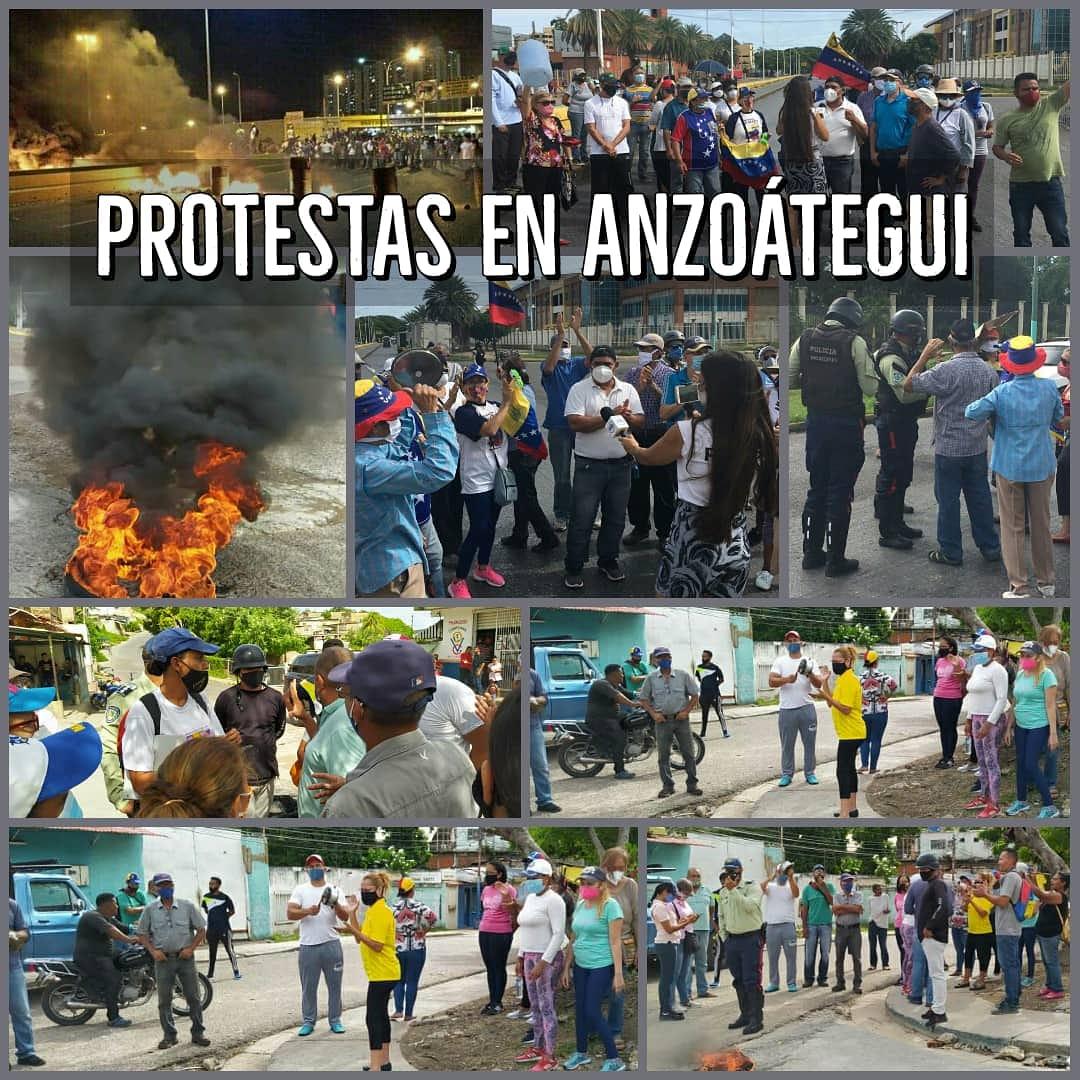 Protestan en Anzoátegui por colapso de los servicios públicos como agua, electricidad, gas doméstico, gasolina y transporte público. Hoy permanecen trancadas varias vías en Puerto La Cruz y Barcelona. Viene la anarquía en Venezuela https://t.co/TQxJ1EEOB8