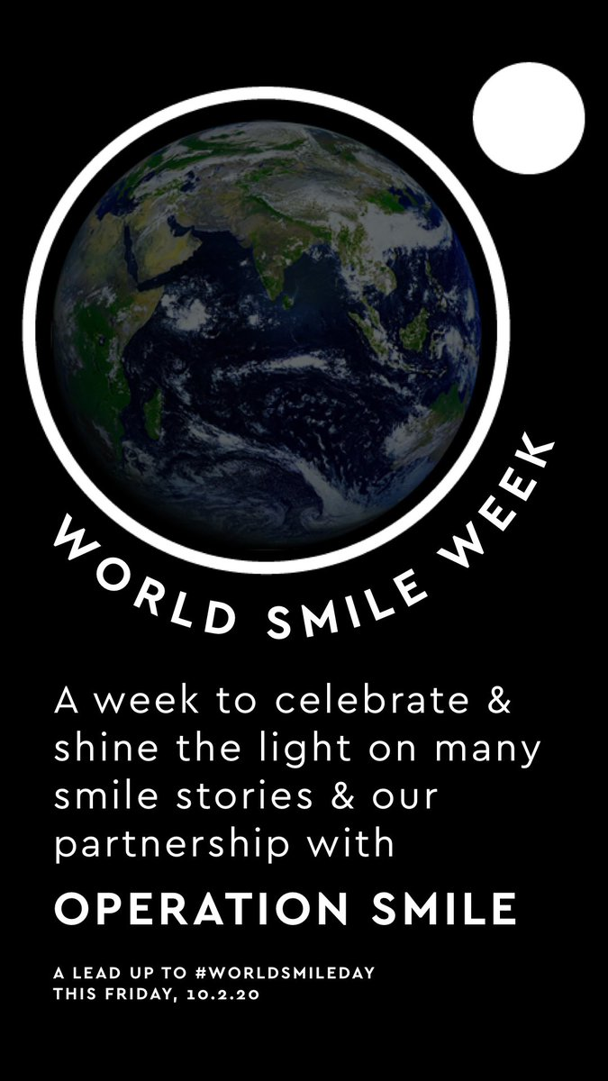 We're proud to support @operationsmile and their mission to heal the smiles of children born with cleft lip and cleft palates around the world. They have worked tirelessly to provide access to safe, effective and otherwise impossible surgical operations #WorldSmileWeek