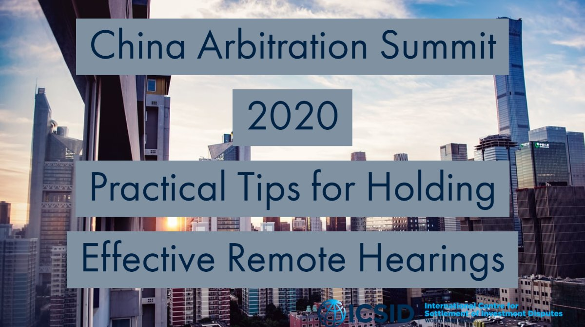 At this year's China #Arbitration Summit, we asked arbitrators and counsel for their tips on how to conduct an effective #remote #hearing. This is what they told us https://t.co/O82elAdXqo https://t.co/0jiiIAcefV