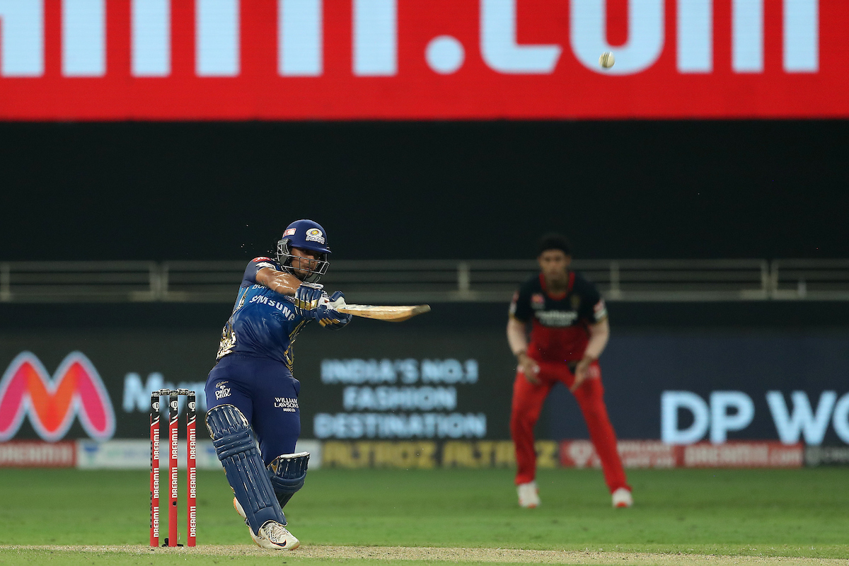 Replying to @IPL: That brilliant innings by Ishan Kishan comes to an end on 99.  AND it's a SUPER OVER!!!!