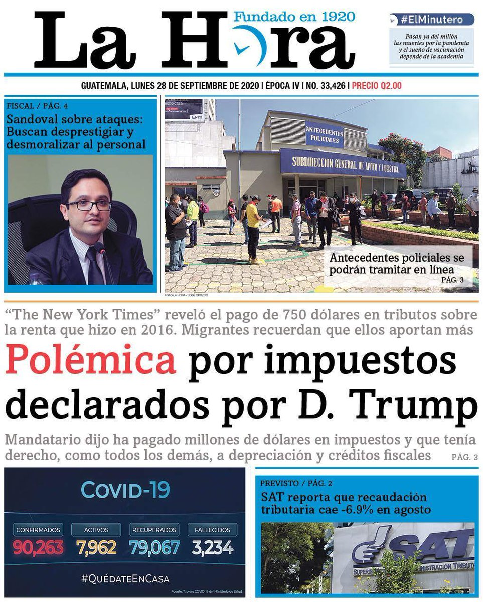 test Twitter Media - #PORTADADEHOY Polémica por impuestos declarados por D. Trump 👉[https://t.co/MXbGz3seHq] https://t.co/LyADtCSDMV
