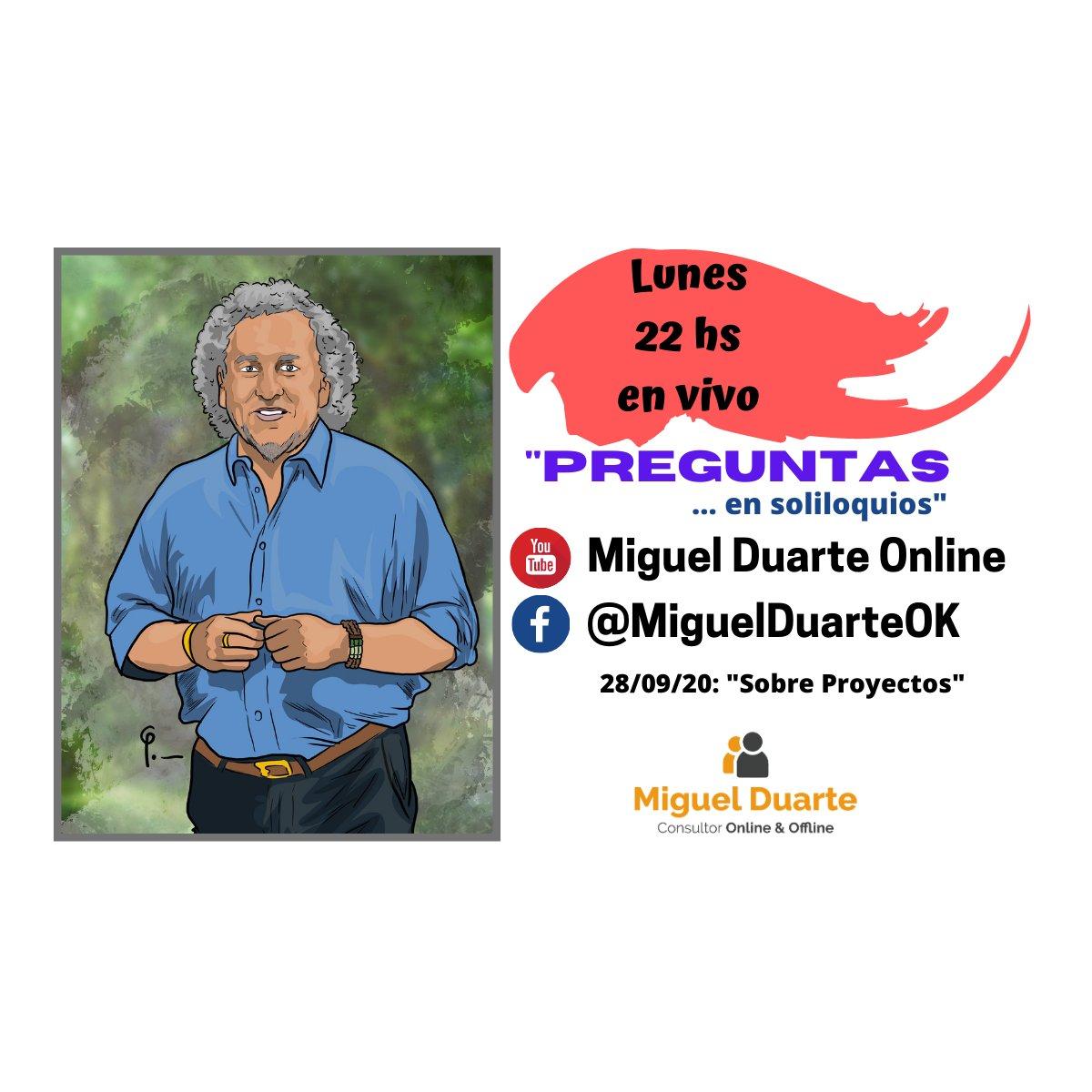 """💻 """"Preguntas ... en Soliloquios 📲 En Vivo 🔎 Tema: """"Sobre Proyectos"""" 🕙 22 hs Argentina #Preguntas #Soliloquios #Consultoría #Online #Offline #Oratoria #liderazgo #Gestión #Comunicación #Confianza #Proyectos #ProyectosdeInvestigación #Postgrados https://t.co/38OlOKhtZg"""