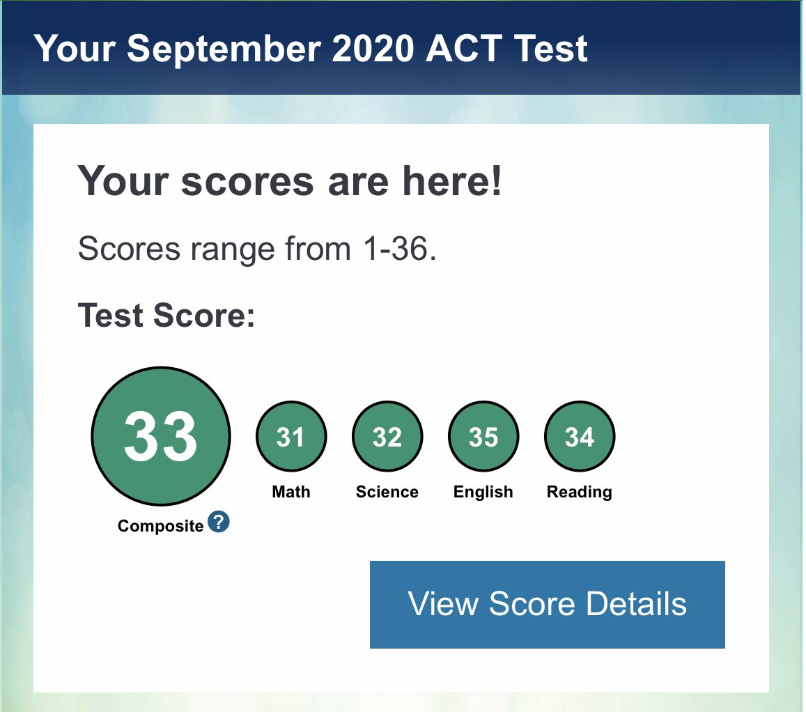 ACT results are in! #studentathlete 📚 https://t.co/uD0xxhApUJ