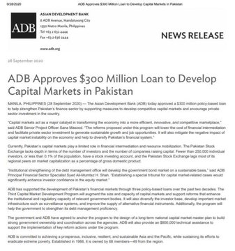 Good news for Stock Market.  Not only US$ 300m but another US$ 800k technical assistance to support the implementation of key reform actions under the programme. (Please check 6th paragraph last line). #KSE100 #PSX #PSXSTOCKS #Pakistan #StockMarket https://t.co/S1hZCqjTDf
