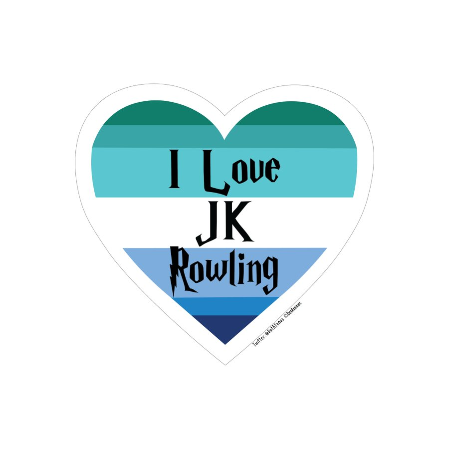 @SeahorseLt @jk_rowling Have a sticker sweetie, for being so courageous & standing up to the pressure!  I'm glad you managed to stay a seahorse & didn't become a merm**d. 💙  (I chose this one because it's sea colours!)