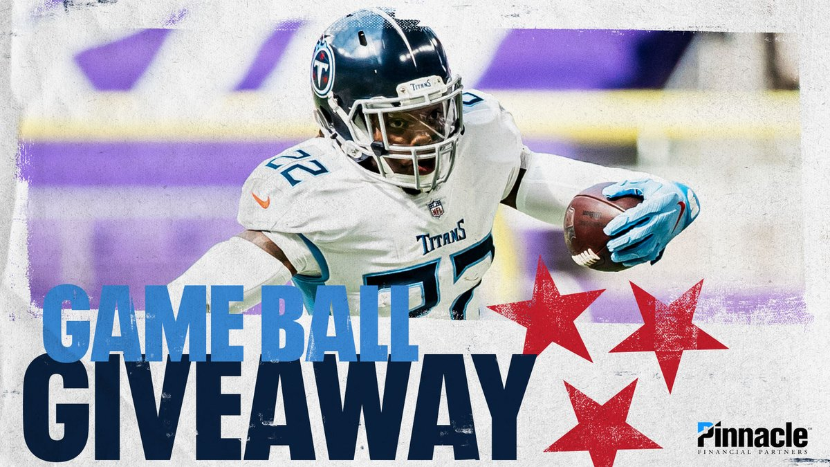 🏈 @titansbanking Game Ball Giveaway 🏈  RETWEET and follow @Titans for the chance to win an official game ball from our victory over the Vikings.