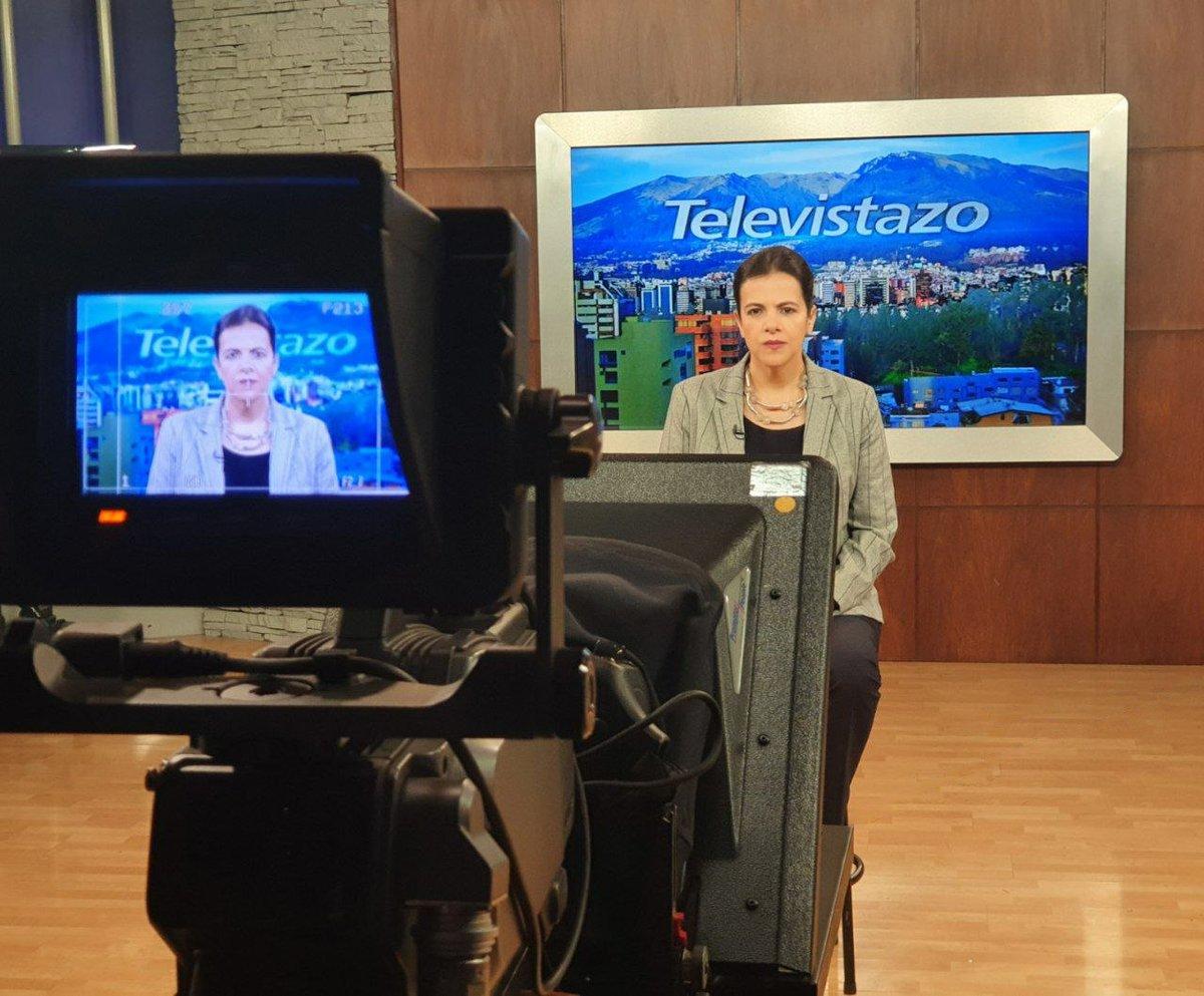 [AHORA]📺 Siga la entrevista que mantiene la ministra @mariapaularomo, en el noticiero Televistazo de @ecuavisa, con @tinocotania. La transmisión aquí ⤵️ https://t.co/5w3OHhocGF https://t.co/PrS30F2lXI