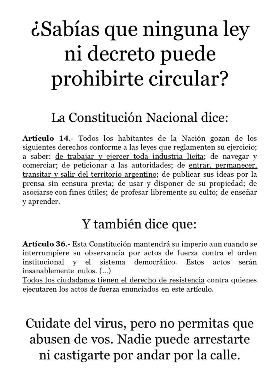#Cordoba  #PatioOlmos Se revelan ante la prohibición de salir y cierre de negocios desde las 20 a 06 hs.  #Bares #CasaDeComidas  #Restaurantes  #Taxis https://t.co/kEPwpSw3zn