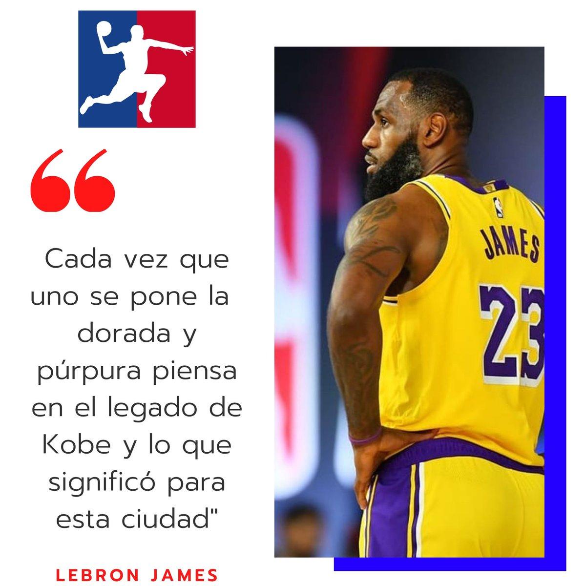 """Los Lakers van con motivación extra a las #NBAFinals y LeBron James lo tiene claro: """"Kobe Bryant"""" . #QuePasaNBA . #Lakers #LebronJames #James #Lebron #KobeBryant #Bryant #Kobe #LosAngelesLakers https://t.co/cytucNNgqq"""