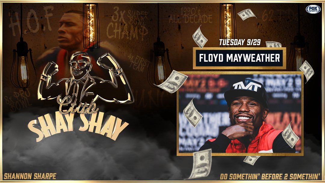 TOMORROW: @FloydMayweather stops by the Club... 👀  Don't miss a brand new episode of Club Shay Shay, featuring the one & only TBE! Subscribe on Apple Podcasts: https://t.co/7biyHGPe9t https://t.co/8I0aQJaVKD
