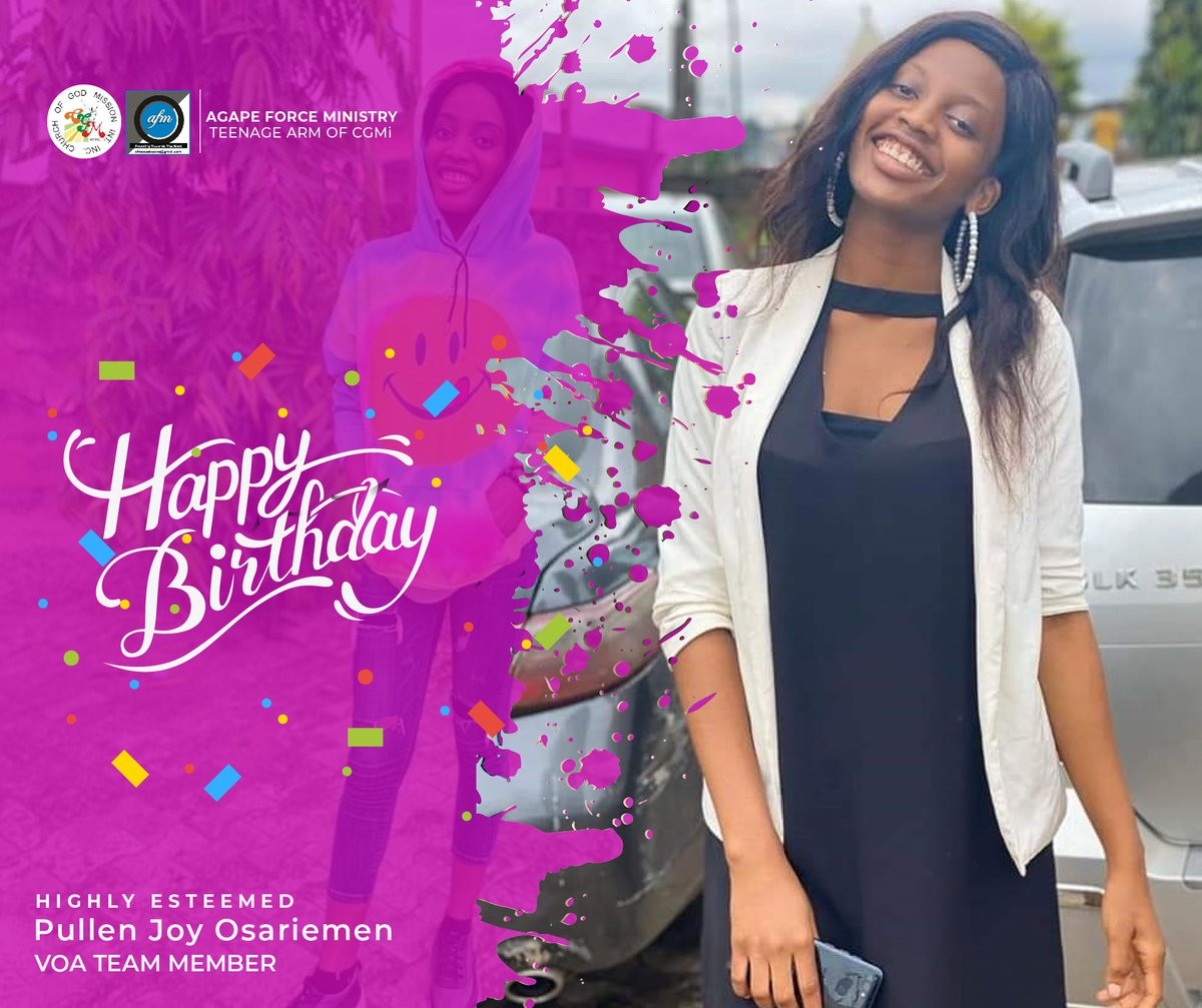 Join us again as we celebrate one of our very own- Pullen Joy Osariemen. She is one of VOA's outstanding members & Teens Magazine Writer who is a year older today. #HappyBirthdayJoy #birthdays https://t.co/roXV2nYnSR