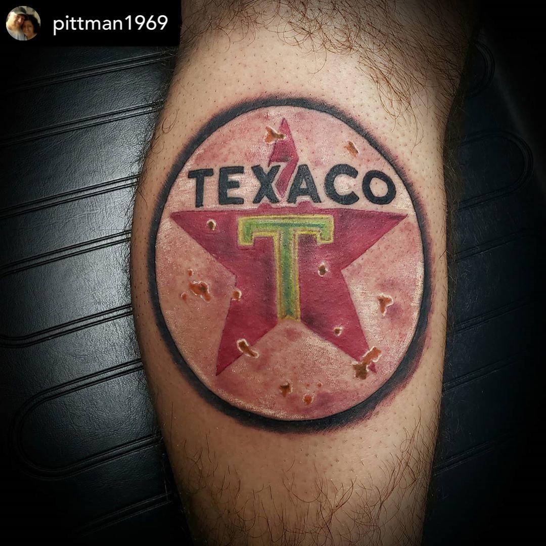 Cool vintage Texaco sign from @pittman1969 #tattoo #tattoos #ink #inked #art #tattooartist #tattooed #tattooart #tattoolife #tattooing #tattooist #artist  #tattooer #instagood #tattoodesign #traditionaltattoo #tattooideas https://t.co/lgFSlRjyOt