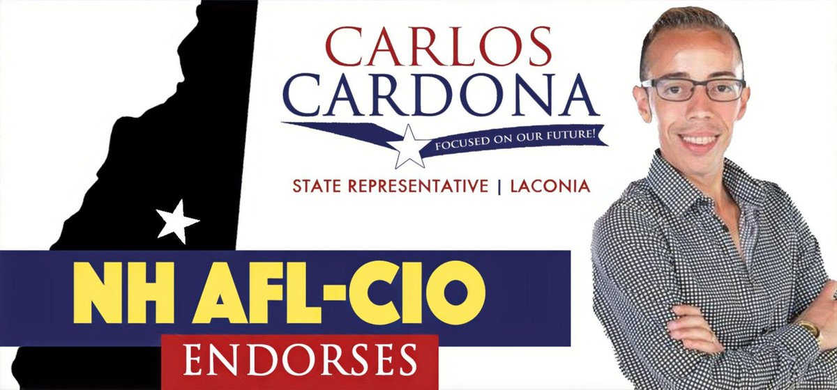 Another amazing endorsement thank you to @NHAFLCIO for this. I look forward to fighting for Unions in our state and fighting to raise the minim wage and making sure working families have an ally in Laconia, NH. #NHPolitics https://t.co/9du6SHcBtT
