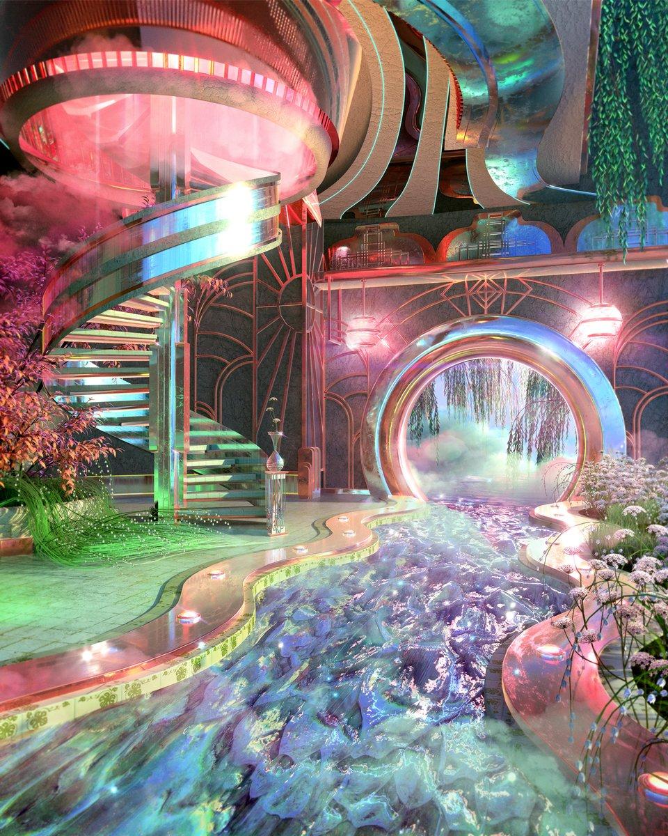 3 themes in my art: portals, plants + pink https://t.co/AL07JUvpRr