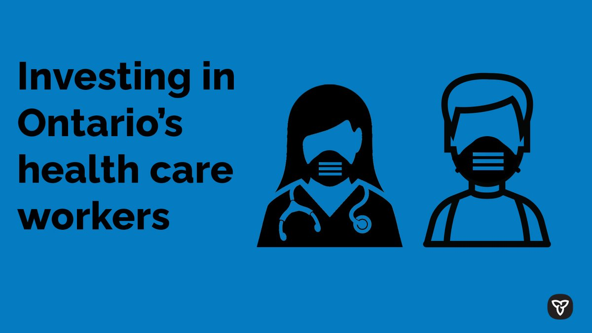 Today, our government announced $52.5 million to recruit & support #HealthCare workers & caregivers. This will help ensure the health care system can meet a potential surge in demand, while continuing to provide safe and high-quality care to patients. news.ontario.ca/en/release/585…