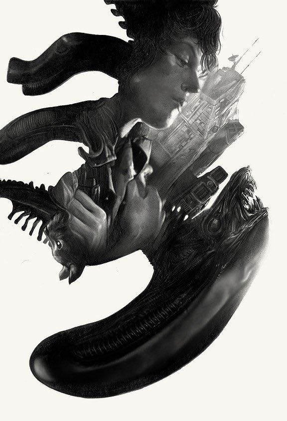 The final original Graphite commission for ALIEN as well as all of it's attending studies are now up at the Commissions Archive, to view right here: https://t.co/fNQzHj607d  Online sale at the shop of the remaining originals will go live Friday, October 2 around NOON EST https://t.co/ldVWopBTBO