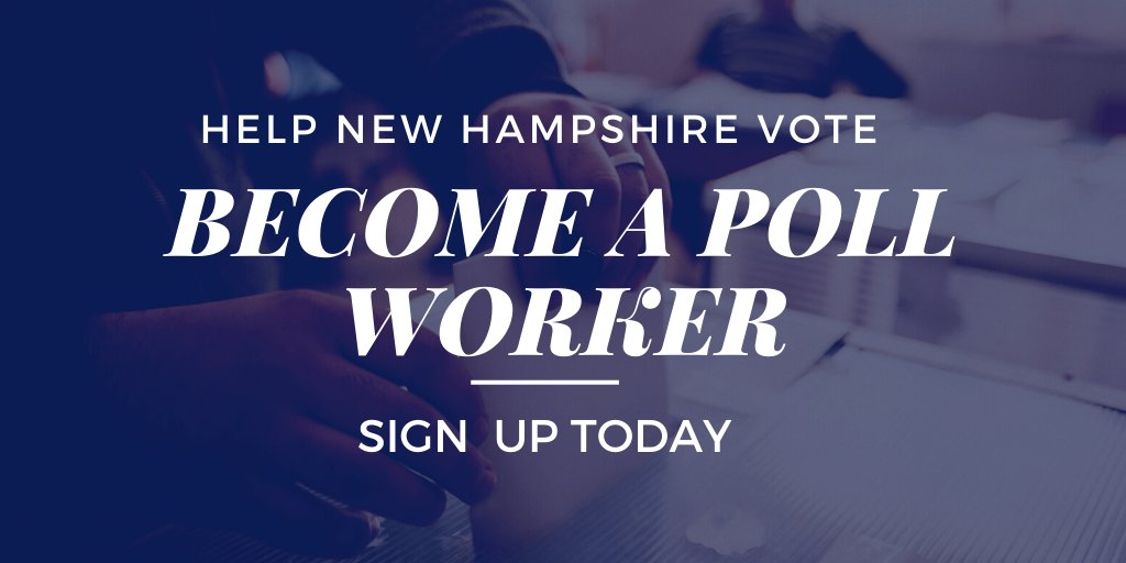 ✅ Help your community ✅ Protect our democracy ✅ Make a difference   Sign up today to become a poll worker on #ElectionDay: https://t.co/G3l9z2N461 #NHPolitics https://t.co/qZyHCC9qhD