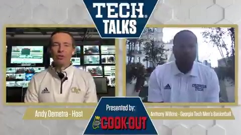 In todays #TechTalks, @AndyDemetra catches up with @GTMBB assistant coach @AntWilkins101. Presented by @CookOut #TogetherWeSwarm