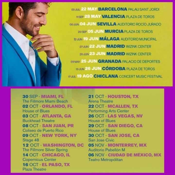 Primeras fechas para #giraentusplanes2021 ESPAÑA 🇪🇸  ESTADOS UNIDOS 🇺🇸  y MEXICO 🇲🇽. De @davidbisbal   Foto by @agenda_db