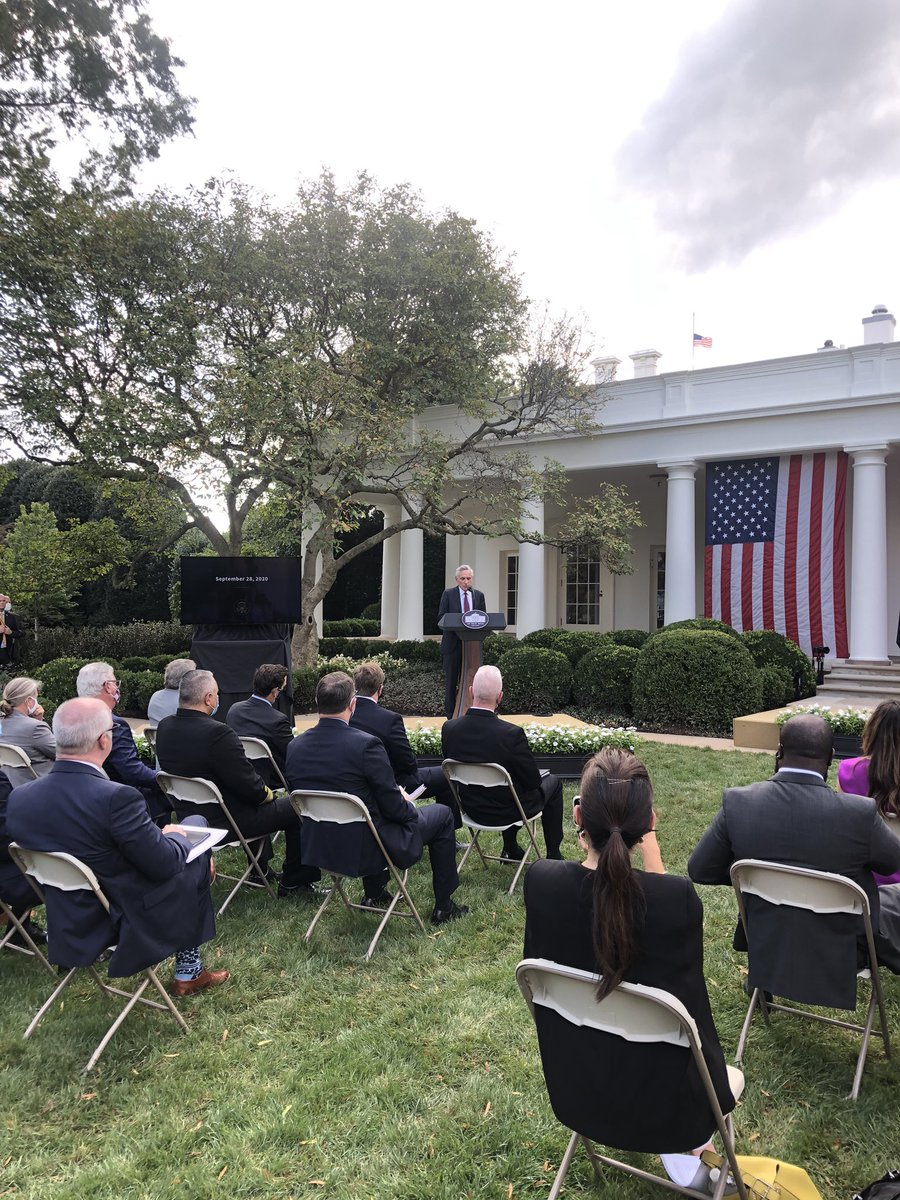 "Today Dr. Anthony Fauci said US reporting an ""unacceptably high"" number of new coronavirus cases. But he is not at WH COVID event today, instead President asked *radiologist* Dr. Scott Atlas to give reassuring words the COVID response. https://t.co/EGnKaVniWD"