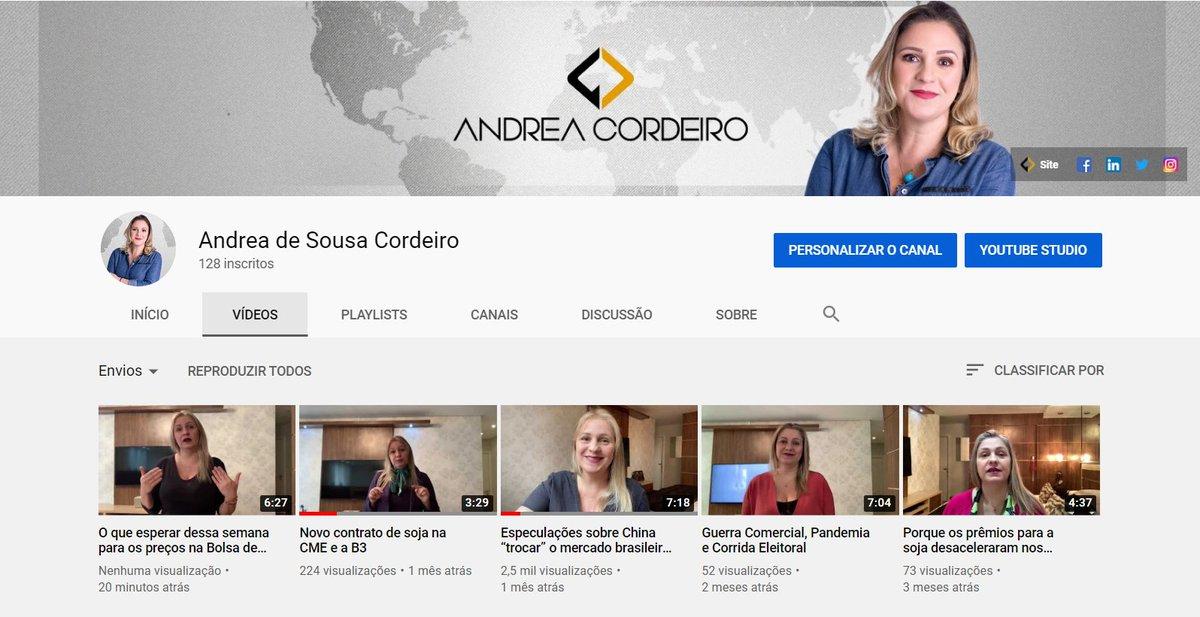 Já conhecem meu canal no Youtube?  Nessa rede eu falo sobre temas relevantes ao agro brasileiro.  #agro #agricultura #pecuaria #agribusiness https://t.co/AETxGj5rtT