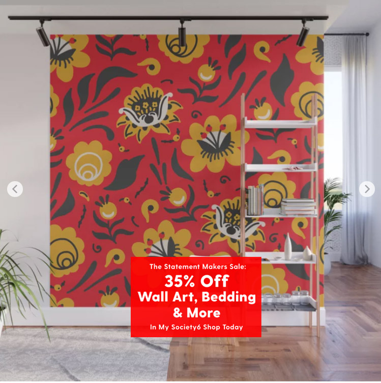 Ends 4/10 #sale UP to 35% off some products. Check at:  https://t.co/yxQBFieSiJ - #society6  #giftideas #homedecor #roomdecor #bedroomdecor #livingroomdecor #wallmural #flowers #floral #red #russian #pattern https://t.co/38BPS65HIH