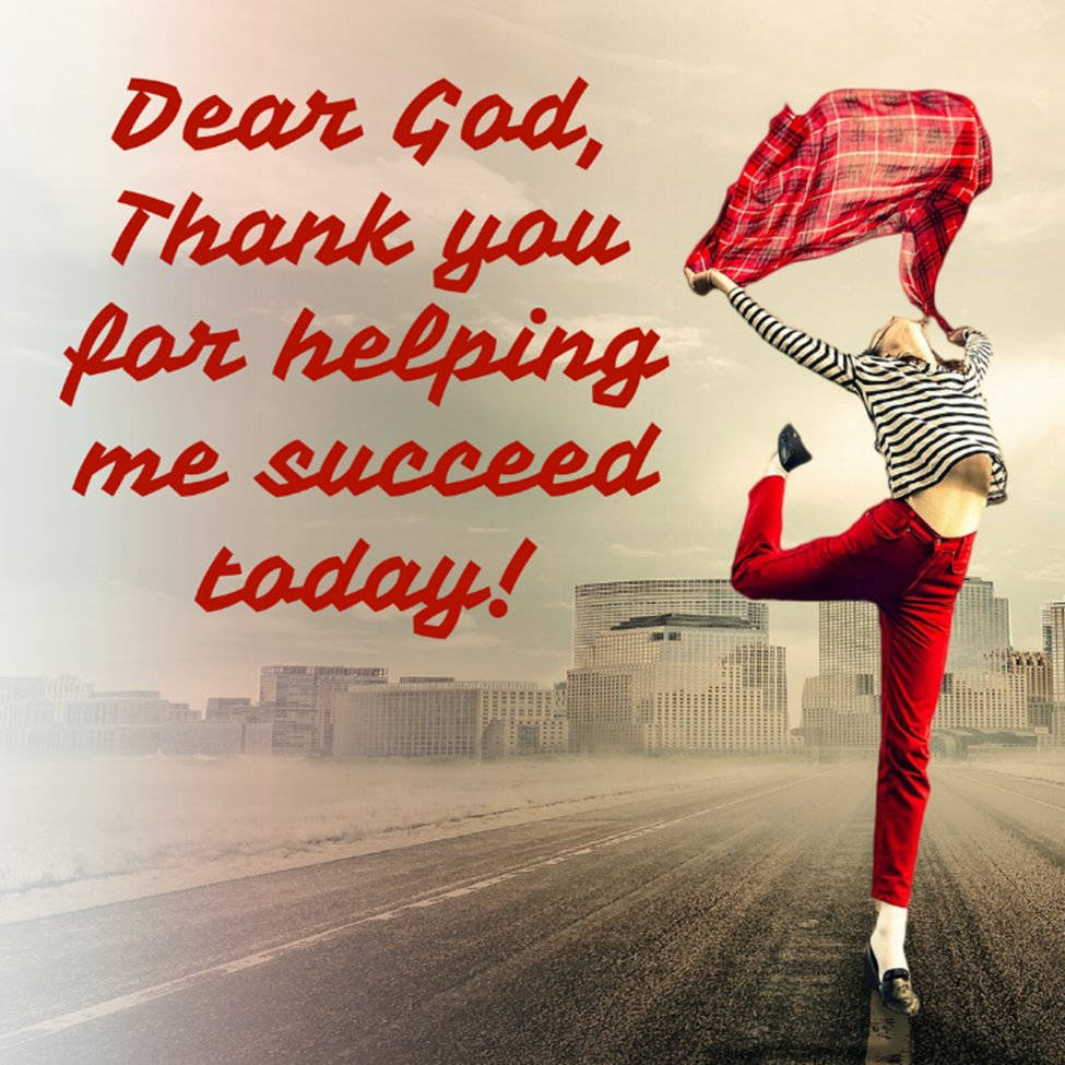 Dear God, Thank You for helping me SUCCEED today!  #gratitude #thankful #blessed #success #godequalslove #godislove #inspiration #lifecoach #spirituality #godcanbeyourcoach #god #godcanbeyourcoachatwork https://t.co/nAdnKKkPDv