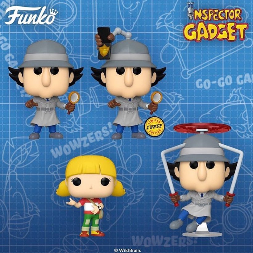 """""""Go Gadget Go"""" 🔍 First debuting in 1983, the original #InspectorGadget animated series has become a cult classic! This awesome new wave of Pops includes: Inspector Gadget, Penny and a Flying Inspector Gadget! Available for PRE-ORDER now at https://t.co/OYwKWiwXmq 🔥 #Funko https://t.co/YzFRALd7Gq"""