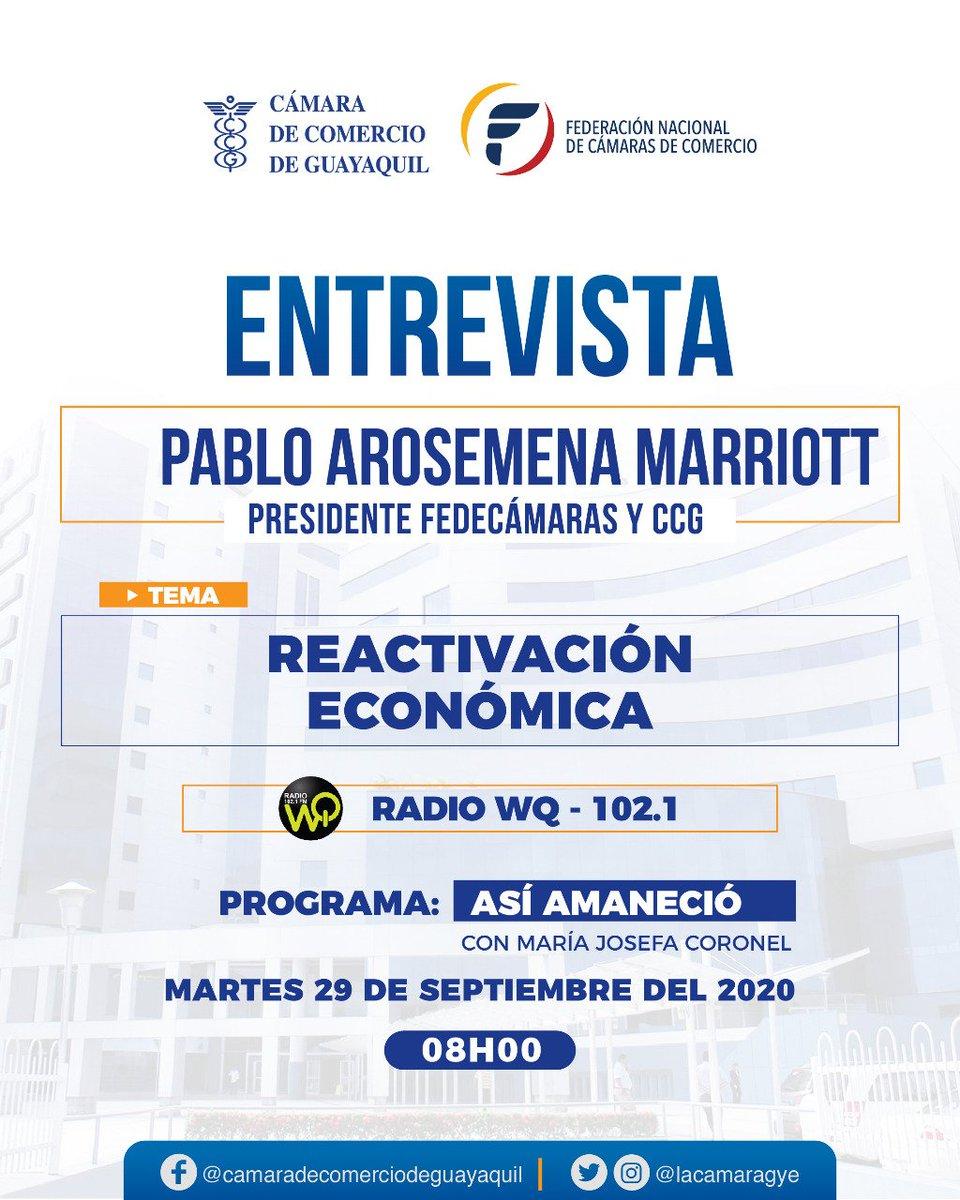 Mañana 08h00 🎙📻 te invitamos a escuchar la entrevista a nuestro presidente @parosemena en @AsiAmanecio con @MaJosefaCoronel, por la señal de @WQRadio_EC https://t.co/a5aaOZB47c