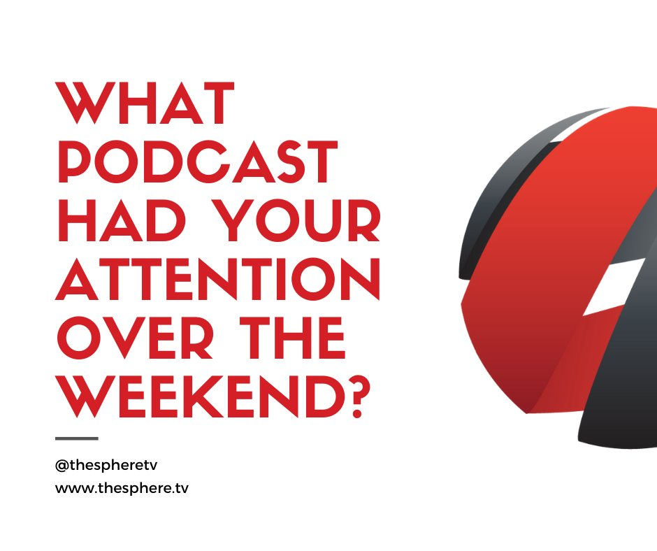 Happy Monday!  Coming off of the weekend can be tough! But, we're sure that you were tuned into some pods over the weekend... who's got your ear?  Comment below... #podcast #TheSphereNetwork #podernfamily #podcastaddict #weekend #cheers #Monday #mondaze #podcastlife #tunedin #now https://t.co/9oo2aftthh
