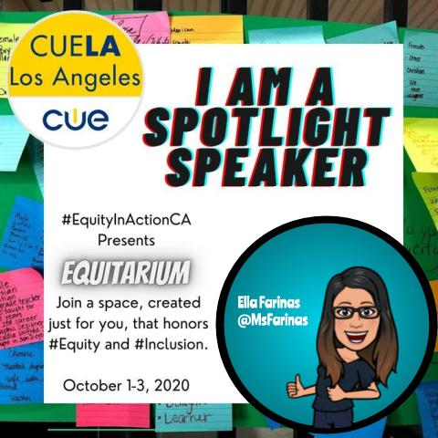 I'm super-excited to be a part of this conversation with educators honoring #equity & #inclusion. Thank you for including me, @EquityActionCA! #Equitarium2020 #wearecue #EquityInAction #FreePD #Teachers #adminchat https://t.co/7hVpU8k0wX