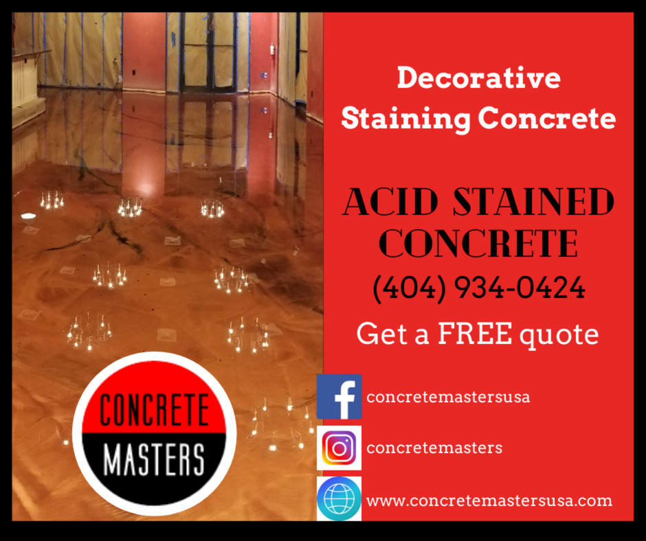 Applying Acid Stain On Your #Atlanta Concrete Floor Is A Perfect Choice!  Call us today to get a FREE Acid Stained Concrete estimate!  https://t.co/A1pLjGL5Gy Address: 5400 Glenridge Dr, Atlanta, GA 30342 Phone: (404) 934-0424  https://t.co/AacXYt9zFz  #concretemastersatlanta https://t.co/yUujtOkFT7
