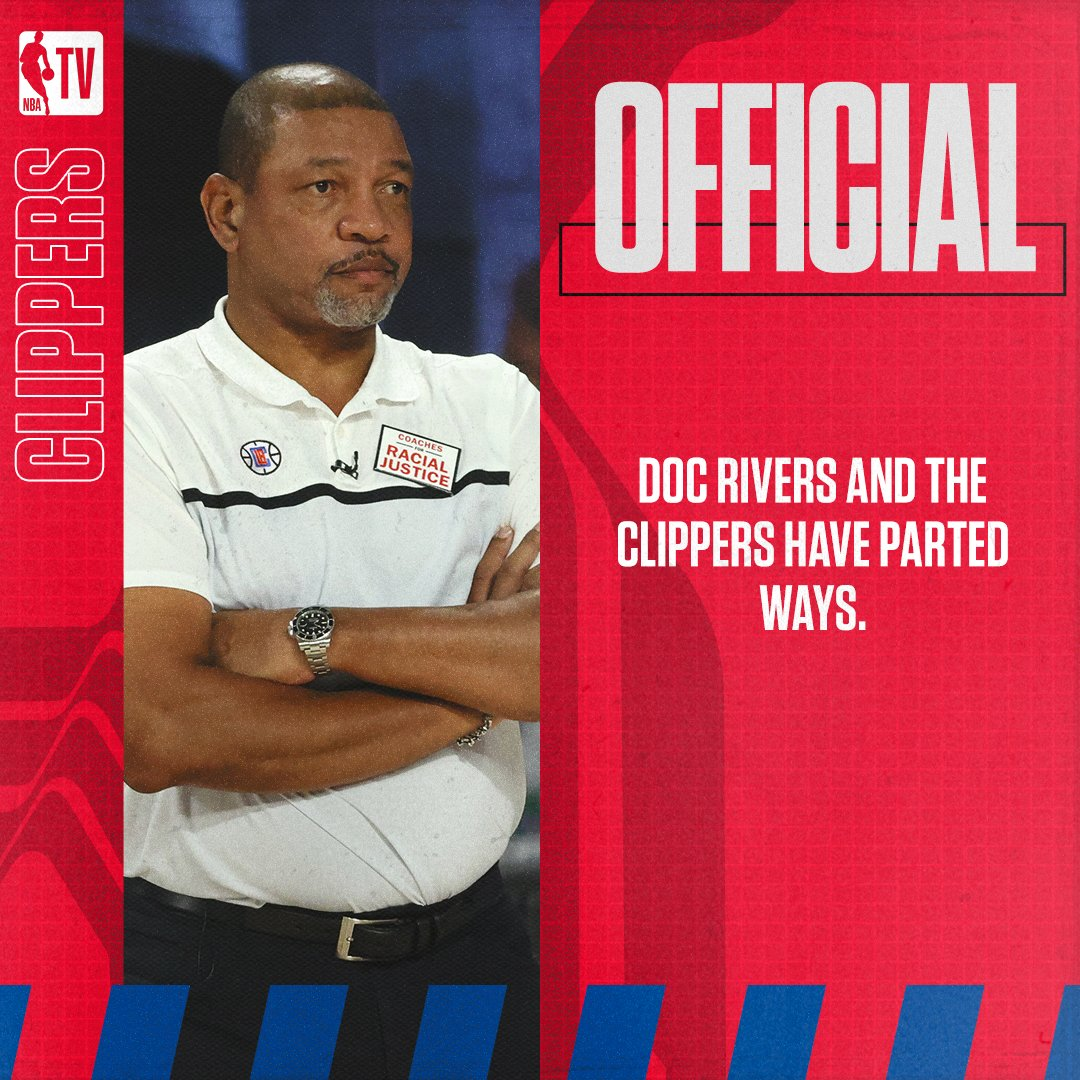 Doc Rivers and the Clippers have parted ways. https://t.co/mZVGmkItF8
