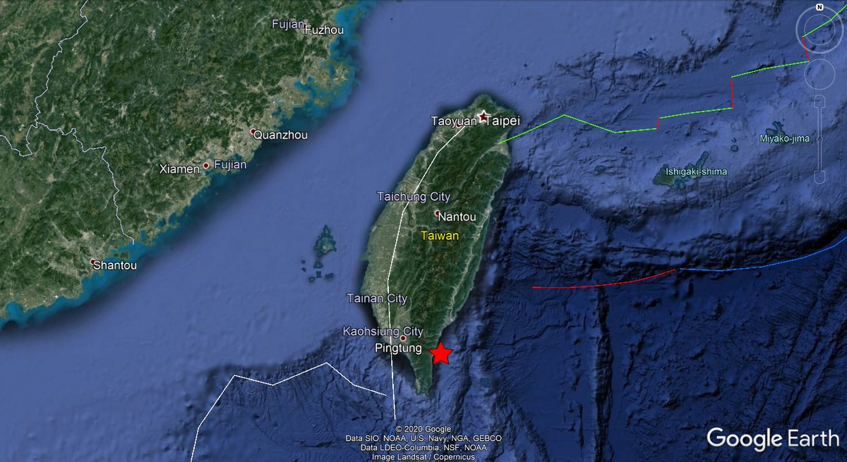 ⚠️Rep. of #Taiwan🇹🇼: A mild #earthquake of magnitude ML=4.4, was registered at 10 KM E of #Dàwǔ, county of #Taitung. Depth: 10,9 KM. More info: https://t.co/mPbDkjz4KR Did you feel this earthquake?, Tell us!. #EQVT,#地震,#dìzhèn,#tremor,#seísmo,#sismo,#temblor,#terremoto. https://t.co/UtcvTsLAIv