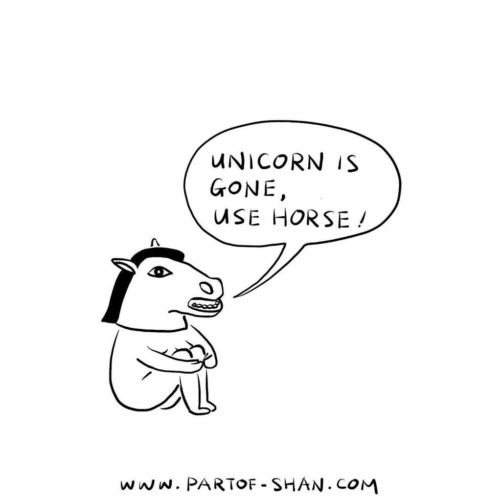 🐴 is fine... . . . #unicorn #unicorns🦄 #illustration #comedian #comedy #mask #costume #horse #drawing #comics #comicbooks #comic #drawing #bizarre #imagination #funny #humor #jokeaboutme #joke #portrait #selfconscious #consciousness #subconscious #farytail #magic #artist #ar… https://t.co/JtvmhoU4tu