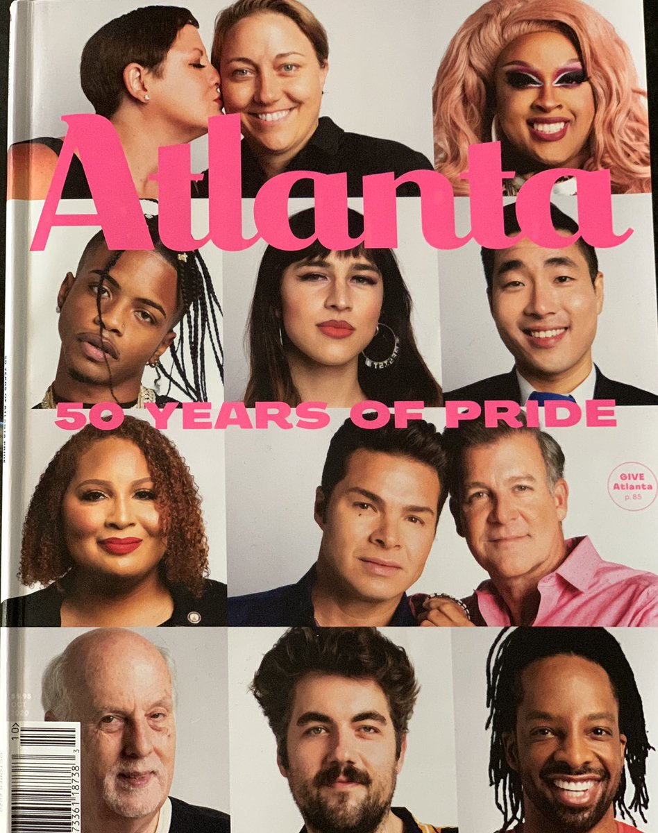 Honored to be on the cover of @AtlantaMagazine celebrating 50 years of #Pride. Pick up your copy to read about the rich history of #pride in the #ATL. #qpoc #lgbtq #bi https://t.co/1yvI6w7zvg
