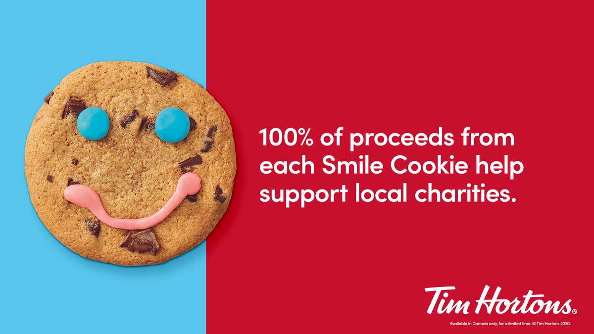 Thank you Canada! Tims restaurant owners, team members, and generous Canadians broke a new Smile Cookie record this year by raising over $10.5 million for local charities in communities across the country. We couldn't have done it with you! https://t.co/IMjdm5jJeo