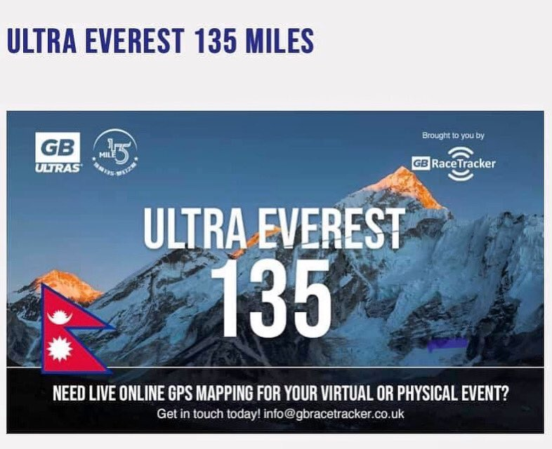 OUR NEW RACE IS NOW LIVE >>>> VIRTUAL ULTRA EVEREST 135   Arguably the hardest Ultra on the planet - utilising the same mapping as the actual event in the Himalayas!  Starting on Sat 17th Oct from just £8.99 @ https://t.co/5WF9q4pfyw  #gbultras #ultraeverest135 #virtualrace https://t.co/KeejzGOg2A