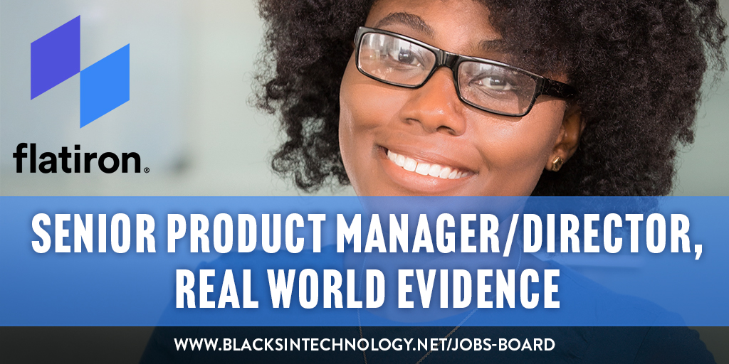 Job Post! Apply today to be the Senior #ProductManager/Director, #RealWorldEvidence for @flatironhealth in #NYC. Rollout #datadriven products for #cancer researchers & work with #realworldevidence. Apply@ https://t.co/3rJ50r5Xyp.  #blacksintech https://t.co/xBfS19sdzo