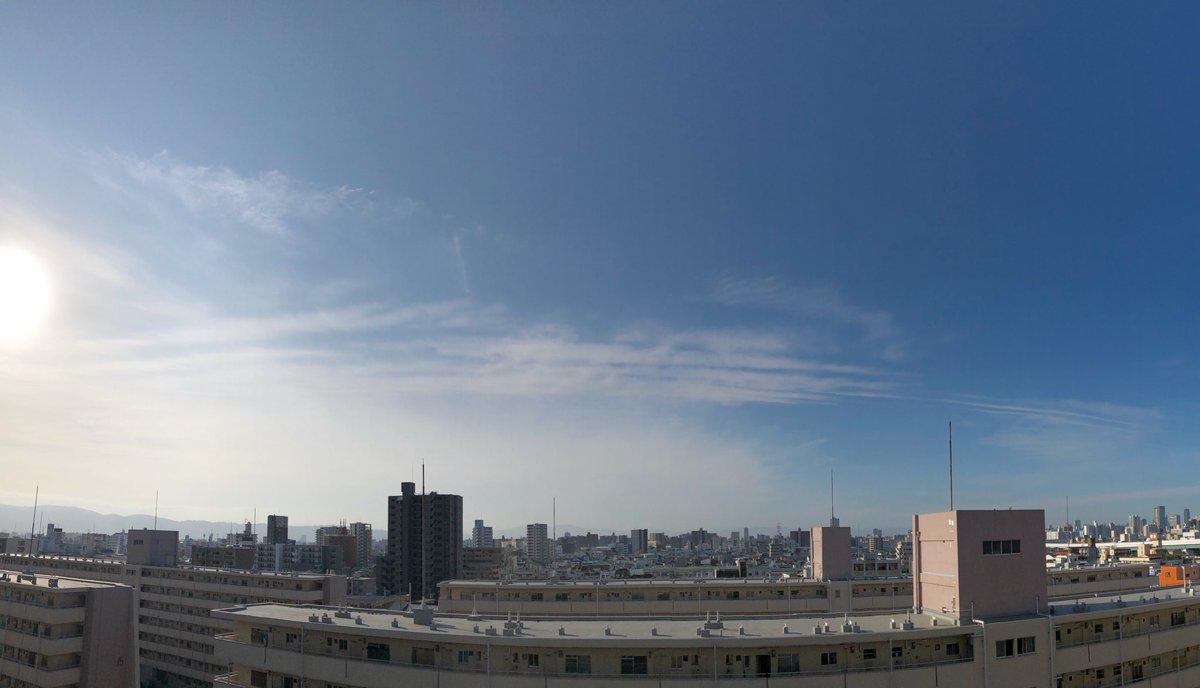 おはようございます #☀︎ #20200929 7:43a.m. #GoodMorning  #Osaka #Japan #sky #now  #イマソラ #いまそら#空を見よう #空 #定点観測 #写真好きな人と繋がりたい#鉄道  https://t.co/dHqaKANxWd https://t.co/uEKNBJcYiH