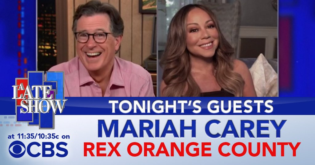 "TONIGHT: The one and only @MariahCarey! She is here to talk about her new memoir, ""The Meaning of Mariah Carey."" Then a performance from @rexorangecounty! #LSSC https://t.co/fQyKGJHHcZ"