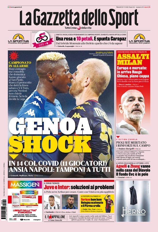 Tuesday's Italian #Calcio headlines in English https://t.co/bPQS9JTxQl #Juventus #FCIM #ACMilan #Napoli #Genoa #Torino #SerieA #ASRoma #Fiorentina #Bologna #Parma #SerieATIM #SerieAxESPN #BolognaParma https://t.co/Eqg3F2XsDB