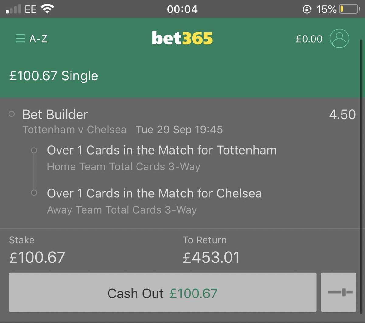 Found today's bet, Great odds higher than William hill🤪 #betting #bettingtips #inplay #football #EFLCup #TOTCHE #FreeMoney #retweets https://t.co/hUd5DCylbg