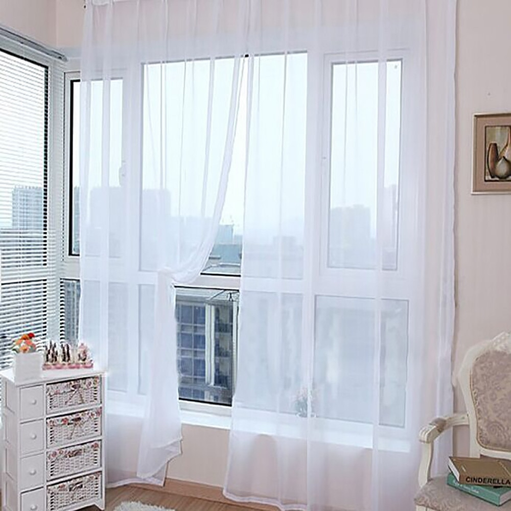 #work #snapon 1 PCS European and American style white Window Screening Solid Door Curtains Drape Panel Sheer Tulle For Living Room L4 https://t.co/BuQH3Yg1gi