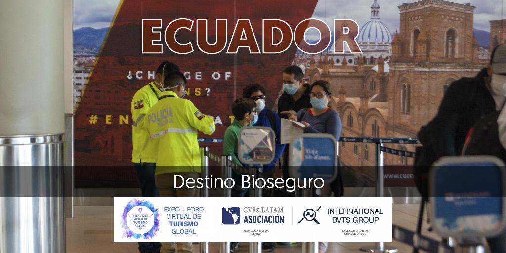 La participación de Ecuador en la Expo + Foro Virtual de Turismo Global permitió promocionar la amplia oferta turística y de reuniones y comercializarla frente a mercados Internacionales: https://t.co/8vqJvEuaYq  #IndustriaDeReunionesEc #MeetInEcuador https://t.co/irOAZPu4Nn