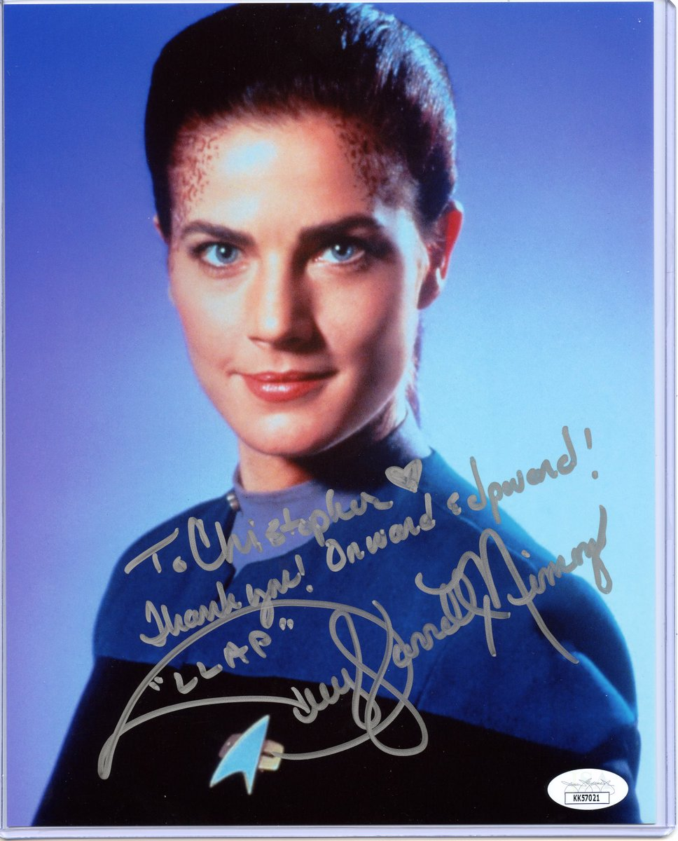 #TerryFarrellNimoy who played #JadziaDax on #DS9. The #Autograph from @galaxyconlive arrived Monday September 28, 2020. I am so excited! This is such a cool #Signature! So glad to have a personalized autograph from a #Nimoy. Thanks #GalaxyCon for making this possible. @1TrekFan https://t.co/WyNPJEnaAH