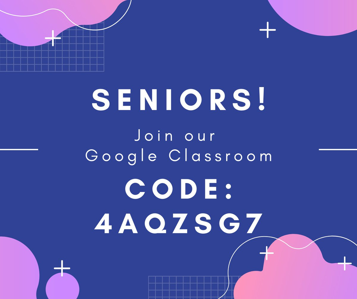 #SENIORS: There are many ways to stay informed of all the important dates and deadlines. Please be sure to take advantage of at least one of them. Join the Senior Google Classroom today! #ClassOf2021 #SHSTigerPride #OneSaluda #StayInformed https://t.co/jCtBd8eB9d
